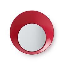 Vešiak Ready Hook so zrkadielkom 20 cm, červený