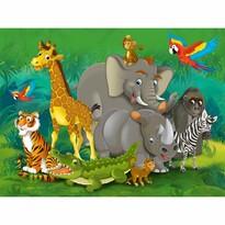 Fototapeta dziecięca XXL Zwierzęta w dżungli 360 x 270 cm, 4 części