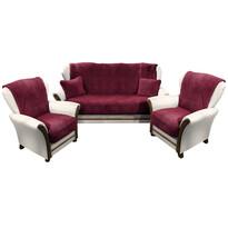 4Home gyapjú kanapé és foteltakaró szett bordó, 150 x 200 cm, 2 ks 65 x 150 cm