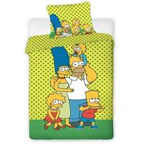 Detské bavlnené obliečky The Simpsons yellow, 140 x 200 cm, 70 x 90 cm