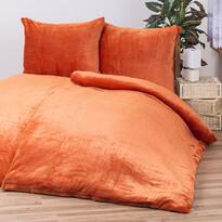 Obliečky Mikroplyš oranžová, 140 x 200 cm, 70 x 90 cm