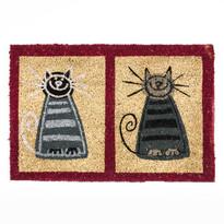 Kokosová rohožka dve mačky, 40 x 60 cm