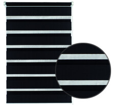 Roleta easyfix dvojitá černá, 100 x 150 cm