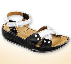 Orto Plus Dámské sandály s aktivní podrážkou vel.41, černobílé