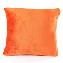 Vankúšik Mikroplyš oranžová, 40 x 40 cm