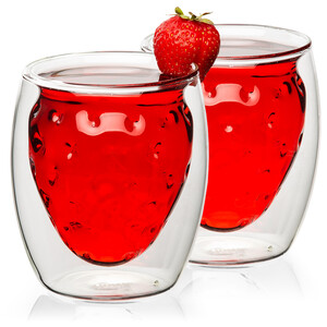 4home Termo sklenice Strawberry Hot&Cool 250 ml, 2 ks