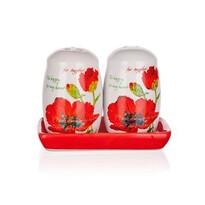 BANQUET Red Poppy solniczka i pieprzniczka