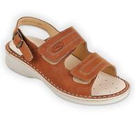 Orto Plus Dámské vycházkové sandály hnědé