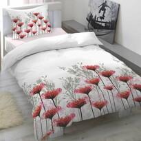 Lenjerie pat satin Portia Cranberry, 140 x 200 cm, 70 x 90 cm