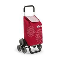 Gimi Tris Floral nákupná taška na kolieskach červená