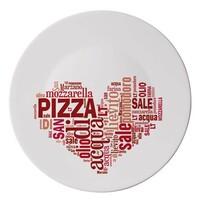 Talíř I love pizza 33 cm, červená