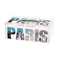 Carte postale zsebkendőtartó doboz, 24,5 cm