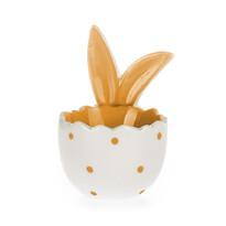 Velikonoční kalíšek na vajíčko Ouška žlutá, 8 cm