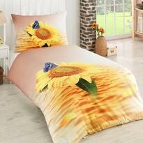 Exclusive Sunflowers 3D pamut ágynemű garnitúra, 140 x 200 cm, 70 x 90 cm