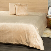4Home Narzuta na łóżko Salazar beżowy, 220 x 240 cm, 2x 40 x 40 cm