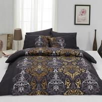 Bavlnené obliečky Julie hnedá, 140 x 200 cm, 70 x 90 cm