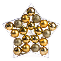 Vánoční koule 20 ks, zlatá