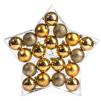 Vianočné gule 20 ks,zlatá