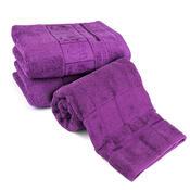 4Home Sada Bamboo fialová osuška a ručníky, 70 x 140 cm, 2 ks 50 x 100 cm
