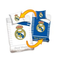 Lenjerie bumbac Real Madrid Double, 140 x 200 cm, 70 x 80 cm
