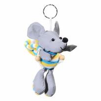 Brelok odblaskowy 3D Mysz, srebrny