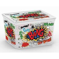 KIS Dekorační úložný box C Box Comics Cube, 27 l