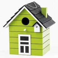 Ptačí budka domeček, zelená
