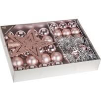 Ozdobny zestaw świąteczny Luxury różowy, 33 szt.