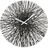 Nástenné hodiny Silk čierna