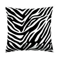 Vankúšik Leona zebra čierna, 45 x 45 cm