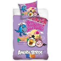 Lenjerie din bumbac pentru copii Angry  Birds Friends, 140 x 200 cm, 70 x 80 cm