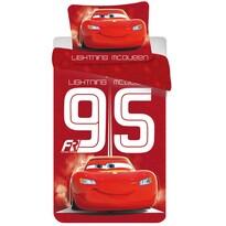 Detské bavlnené obliečky Cars 95 red, 140 x 200 cm, 70 x 90 cm