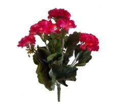 Umelá kvetina muškát tmavo ružový