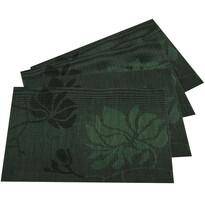 Levelek alátét, sötétzöld, 30 x 45 cm, 4 db-os készlet