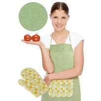 Zástera s chňapkou, zelená