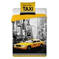 Bavlnené obliečky NY Taxi, 140 x 200 cm, 70 x 90 cm