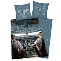 Bavlnené obliečky V lietadle, 140 x 200 cm, 70 x 90 cm