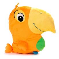 Polštářek Papoušek oranžový, 38 x 36 cm
