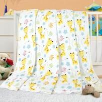 Pătura pentru copii Ella Giraffe, 100 x 155 cm