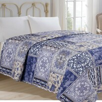 Prehoz na posteľ Orient modrá, 140 x 220 cm