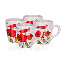 Banquet Red Poppy bögre 500 ml, 4 db-os szett
