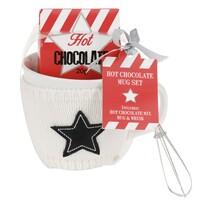 Darčeková sada hrnček s čokoládou, biela, 400 ml