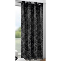 Marlin függöny karikákkal, fekete, 135 x 245 cm