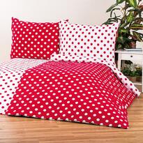 4Home pościel bawełniana Czerwona kropka, 160 x 200 cm, 70 x 80 cm