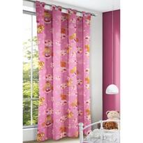 Egyszarvú gyerek függöny rózsaszín, 135 x 245 cm