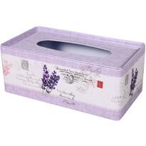 Box na kapesníky Levandule, 24 x 13 x 10 cm