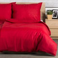 Pościel bawełniana Guru UNI czerwony, 140 x 200 cm, 70 x 90 cm