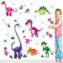Decoraţiune autoadezivă Dinozauri coloraţi