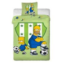 Detské bavlnené obliečky Bart a Homer, 140 x 200 cm, 70 x 90 cm