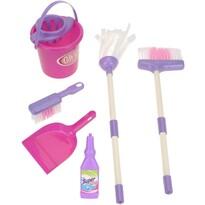 Dziecięcy zestaw do sprzątania Pink, 7 szt.